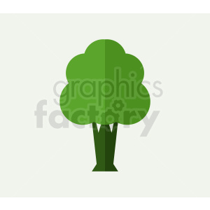cartoon small tree on light green background clipart. Royalty-free image # 408944
