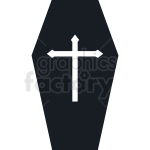 black and white coffin design clipart. Royalty-free image # 408957