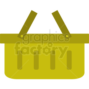 yellow picnic basket icon design no background clipart. Royalty-free image # 408967