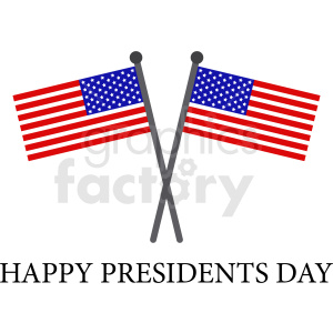 flags for presidents day vector design clipart. Royalty-free image # 409015