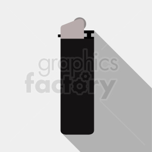black cartoon lighter on gray background