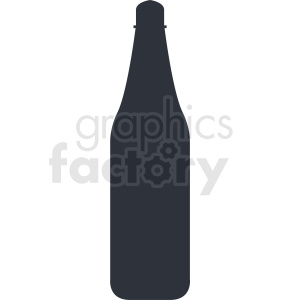 bottle silhouette no background