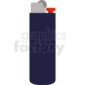 blue vector lighter flat icon