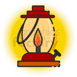 oil lamp icon clipart. Royalty-free image # 409169