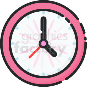 icon clock time pink km