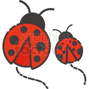 ladybugs icon clipart. Commercial use image # 409175