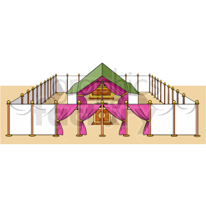 the atrium of the tabernacle clipart. Royalty-free image # 409258