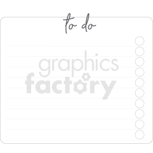 to do list widget digital planner sticker clipart. Commercial use image # 409384