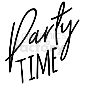 party time typography vector art clipart. Royalty-free image # 409386