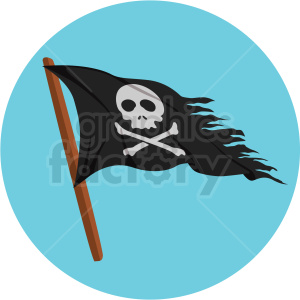 pirate flag vector clipart on blue background clipart. Royalty-free image # 409407