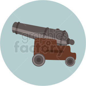 cannon vector clipart on circle background clipart. Commercial use image # 409412