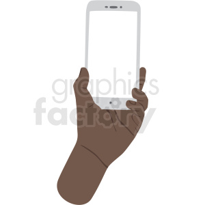 how to hold phone vector african american clipart no background clipart. Royalty-free image # 409448