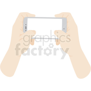two hands holding phone vector clipart no background clipart. Royalty-free image # 409459