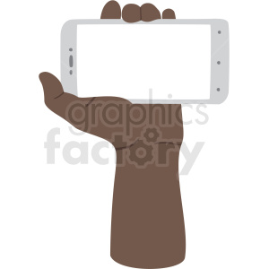 ways to hold phone african american vector clipart no background clipart. Royalty-free image # 409460