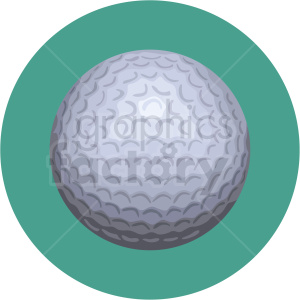 golf ball vector clipart on green background clipart. Commercial use image # 409511