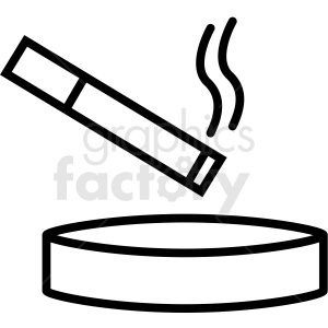 cigarette ashtray vector icon clipart