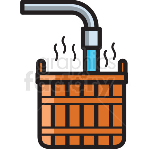 basket with hot water vector icon clipart clipart. Royalty-free image # 409612