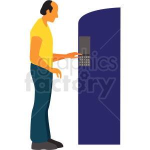 man getting cash from atm cartoon clipart. Royalty-free image # 409653