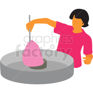person making cotton candy clipart. Royalty-free image # 409654