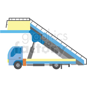 passenger stair truck for airplane clipart. Commercial use image # 409709