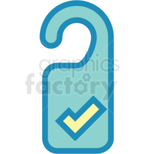 door hanger icon clipart. Commercial use image # 409717