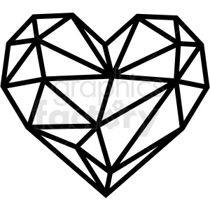 geometric heart vector art clipart. Royalty-free image # 409737