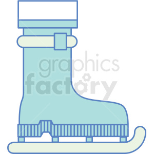 hiking boot with skates icon clipart. Commercial use image # 409788