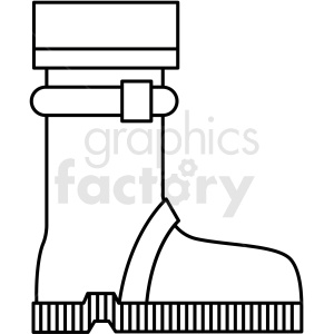 black and white hiking boot icon clipart. Commercial use image # 409799