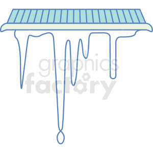 icicles icon clipart. Royalty-free image # 409823