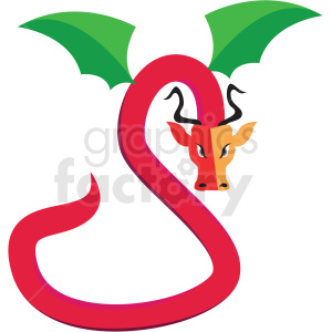dragon creature game vector icon clipart clipart. Commercial use image # 409845