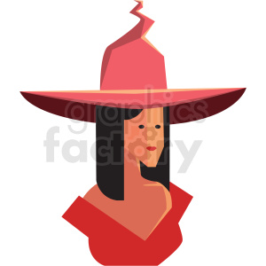 game good witch character vector icon clipart