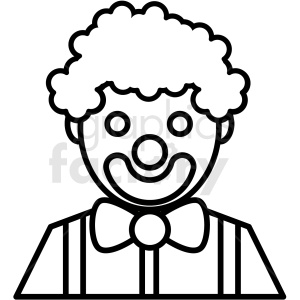 black and white circus clown icon clipart. Royalty-free image # 409898