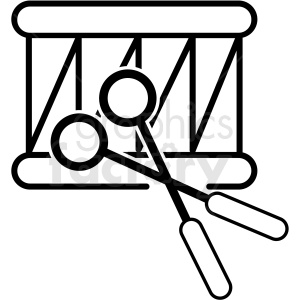 black and white drum icon clipart. Royalty-free image # 409903