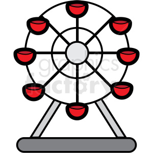 ferris wheel icon clipart. Royalty-free image # 409909