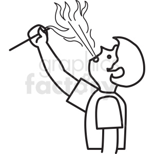 fire breathing man clipart icon clipart. Royalty-free image # 409923