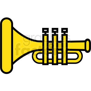 trumpet icon clipart. Royalty-free image # 409944