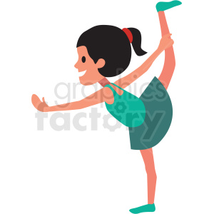 cartoon girl doing ballet clipart. Commercial use image # 409959