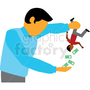 debt collector cartoon vector clipart clipart. Commercial use image # 409999