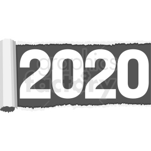 2020 rolled out clipart no background clipart. Royalty-free image # 410033