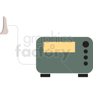 medical machine cartoon vector icon clipart. Commercial use image # 410086