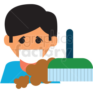 boy with allergies vector icon clipart. Commercial use image # 410096