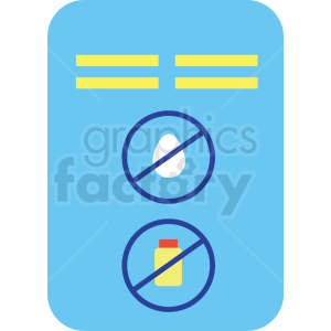 medication instruction card cartoon vector icon clipart. Commercial use image # 410103