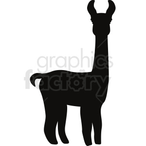 llama baby silhouette no background