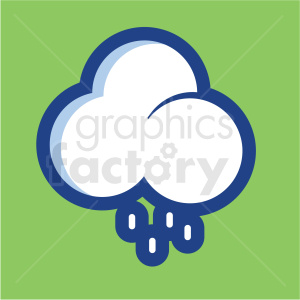 rain cloud vector icon on green background