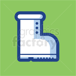 boot vector icon on green background clipart. Royalty-free image # 410189