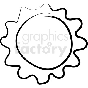 sun drawing vector icon