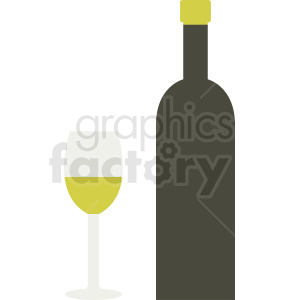 bottle of wine icon clipart. Royalty-free image # 410307