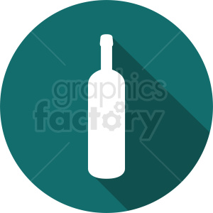 wine bottle on circle aqua background clipart. Commercial use image # 410314