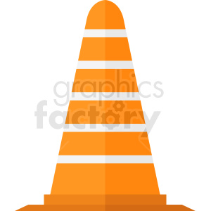 cartoon construction zone cone vector clipart clipart. Royalty-free image # 410352