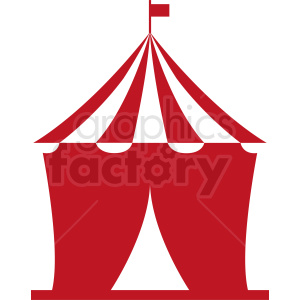 red cartoon circus tent vector clipart clipart. Commercial use image # 410387